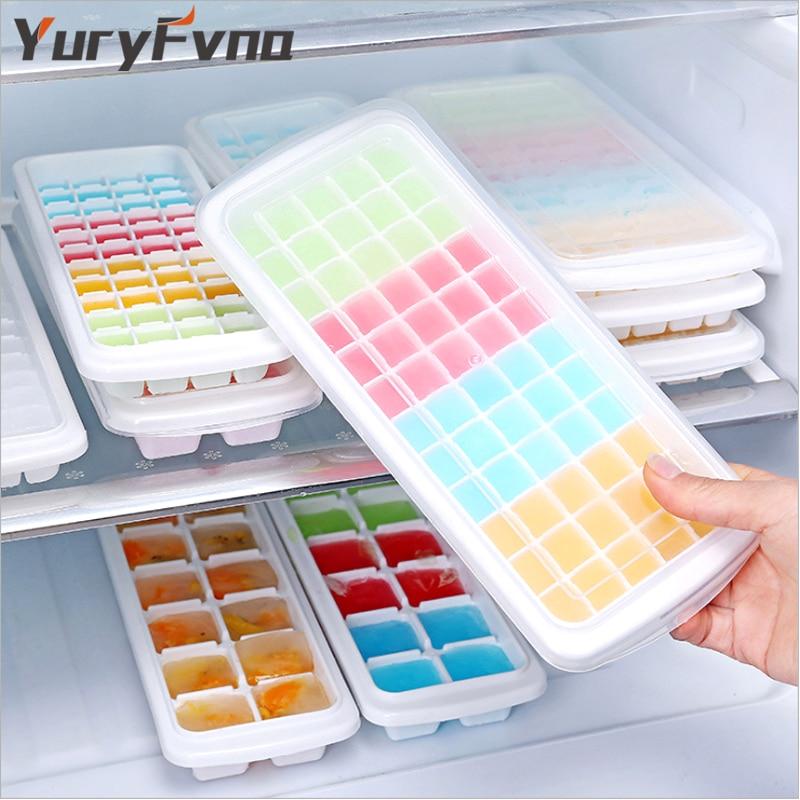 YuryFvna Pladenj za ledene kocke Plastičen kocke za oblikovanje ledu - Kuhinja, jedilnica in bar