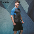 Men's Compression Tights T Shirt Fitness tees Short sleeve Ultra-light Breathable Wicking Quick-drying exercise PRO T-shirt