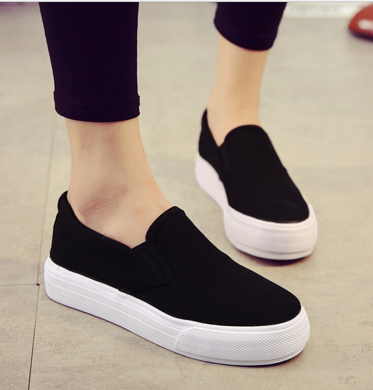 Spring Women's Flat platform Shoes Casual Canvas Shoes Women Tenis Feminino Comfortable Ladies Shoes slip -on Female Footwear 2018 women summer slip on breathable flat shoes leisure female footwear fashion ladies canvas shoes women casual shoes hld919