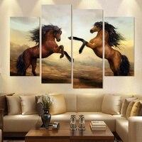 HD Canvas Prints Home Decor Wall Art Painting Horse Modern Art 4pcs No Frames