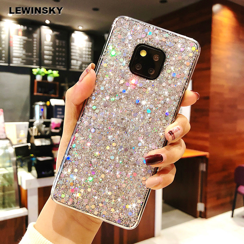 Fashion Glitter Bling For <font><b>Huawei</b></font> P8 P9 Mate 10 <font><b>20</b></font> P20 lite <font><b>Pro</b></font> Nova 3 3i P Smart <font><b>Case</b></font> On Honor View <font><b>20</b></font> 9 8 lite 8X Play 7A <font><b>Case</b></font> image