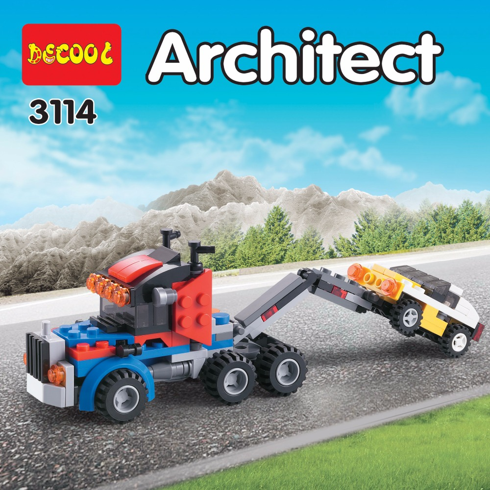 DECOOL City Creator 3 en 1 Transportador de vehículos Grúa Bloques - Juguetes de construcción - foto 5