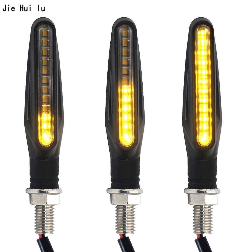 1Pcs Motorcycle Turn Signals Light LED Flowing Water Blinker Motorcycles Flashing Lights Tail Lamp Stop Indicators