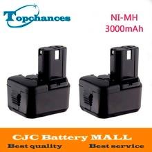 2 UNIDS 12 V 3000 mAh Batería para Hitachi EB1214S EB1220BL EB1220HL EB1220HS DH15DV DN12DY DN12DYK DN12Y DW18D
