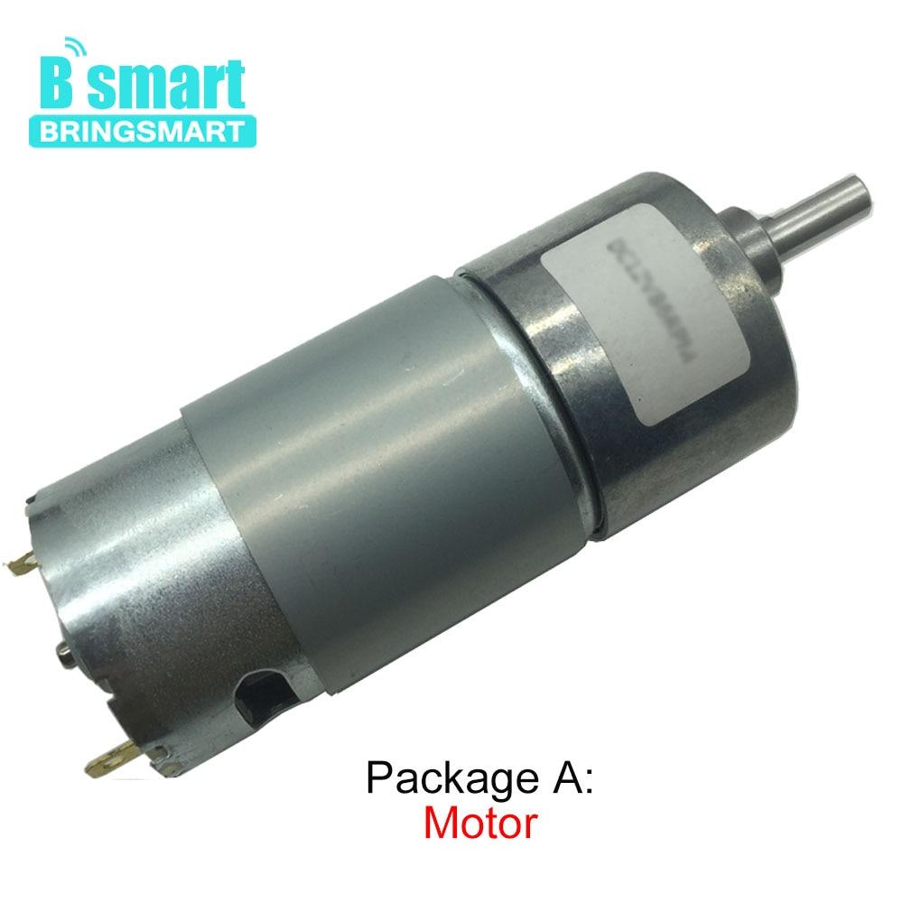 Bringsmart JGB37-550 alto torque 12 v dc motor e dc motor de engrenagem 6v com dc 12 volts redutor motores invertidos para diy motor