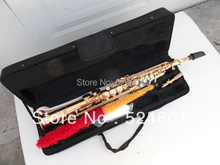 Wholesale golden 875 straight soprano saxophone B tone brand professional factory made soprano saxophone B sax