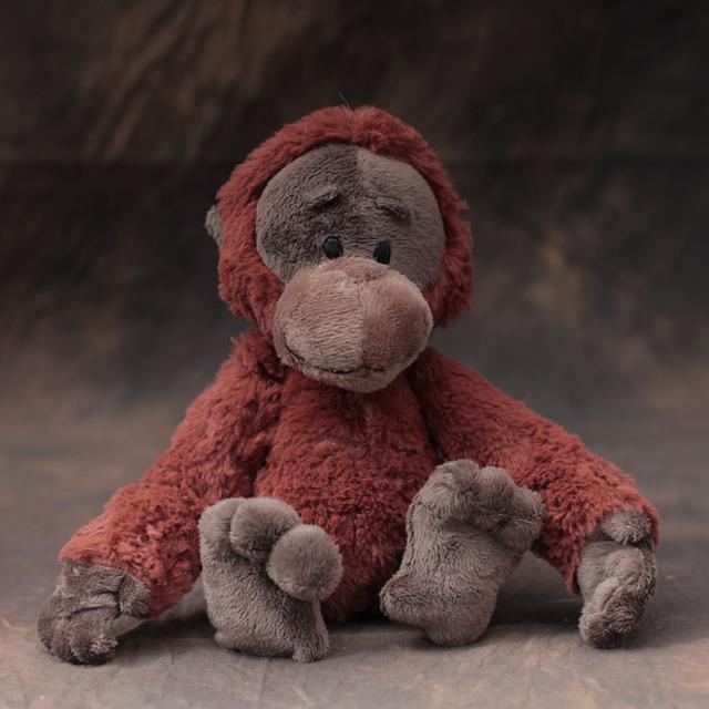 Super Q cartoon peluche Nici marrón gibón orangután gorila muñeca de peluche amante regalo de Navidad los niños 1 unid