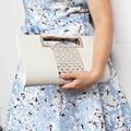 Blanco del bolso del sobre de Cristal de diamante de Embrague Noche Bolsa de grano del Cocodrilo de LA PU de cuero bolsas de mensajero de las mujeres del Bolso de hombro de Las Señoras