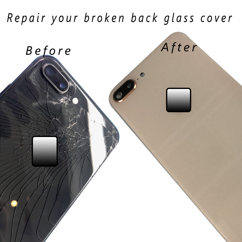 AAA Back Cover Glass Rear Housing For iPhone 8 Plus 8 Rear Door Body Assemble Housing Replacement Parts with Camera Flash Lens in Mobile Phone Housings Frames from Cellphones Telecommunications