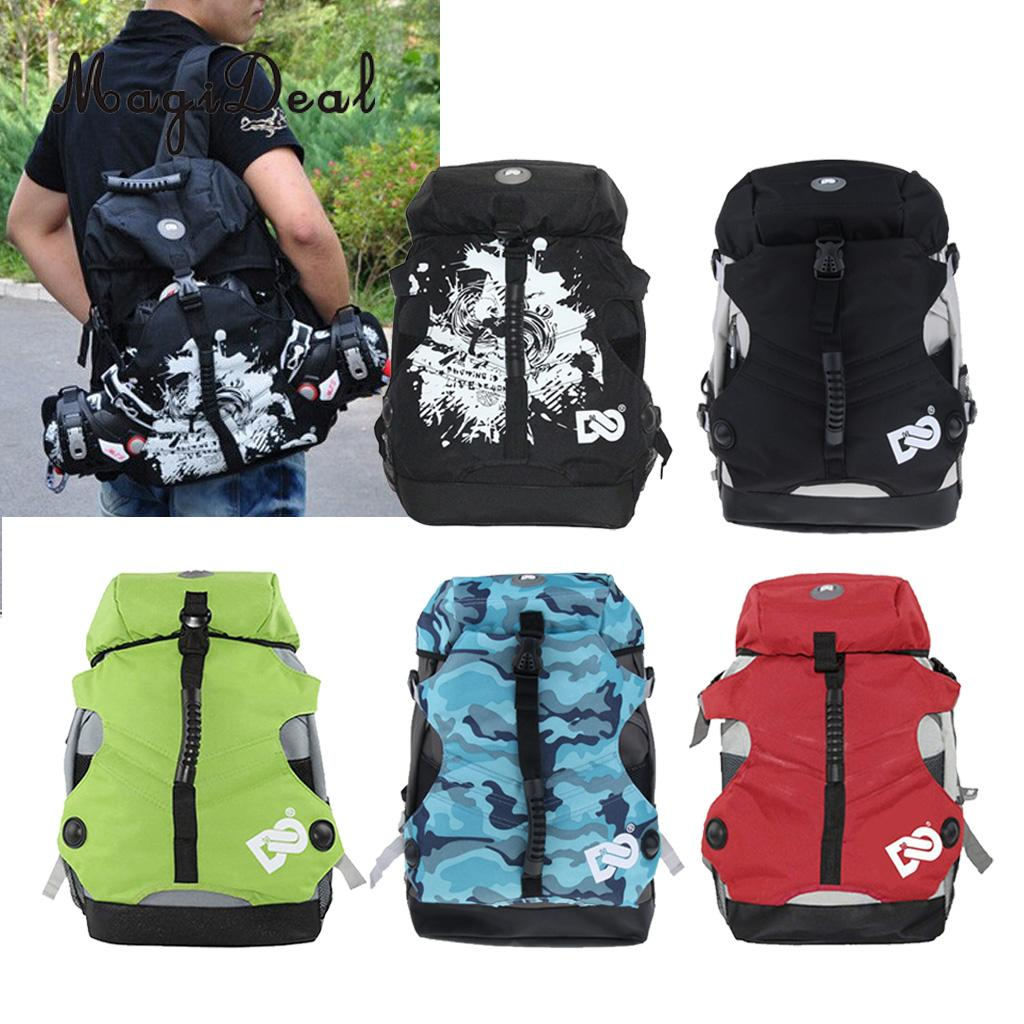 Sports Skate Bag Roller Inline Skates Backpack Quad Roller Skate Bag Skates Storage Pouch Carry Rucksack