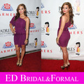 Demi Lovato Short Purple Padres Contra El cáncer 25th anniversary Gala anual Celebrity Cocktail Party Dress