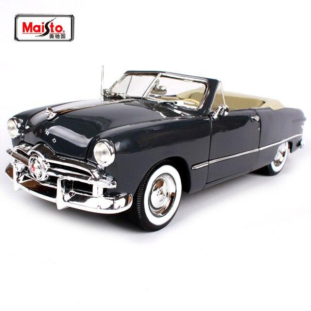 Us 5976 18 Offmaisto 118 1949 Ford Cabrio Altes Auto Modell Diecast Modell Auto Spielzeug Neue In Box Freies Verschiffen 31682 In Maisto 118