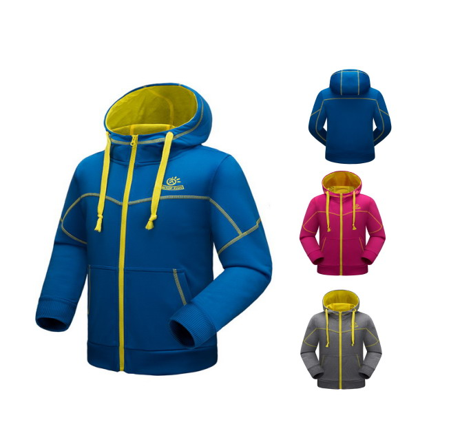 Kids Hooded Fleece Jacket Running play Fitness Jacket Hockey Jersey Hoodie Maillot Football Badminton Jacket