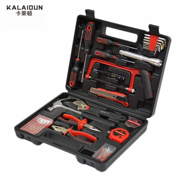 KALAIDUN 32pcs hand Tools Set box Hammer Hardware Combination tool