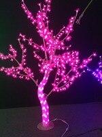 Бесплатная доставка 5ft 1.5 м LED Рождество Новый год праздник свет кристалл Peach Blossom Дерево Розовый Цвет Водонепроницаемый дома декор Новый