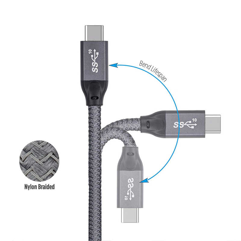 STOD USB 3.1 الجنرال 2 نوع C كابل إلى USB C PD 100 W سريع شحن 5A سوبر البيانات ل ماك بوك هواوي سامسونج مي HP USB-C شاحن الحبل