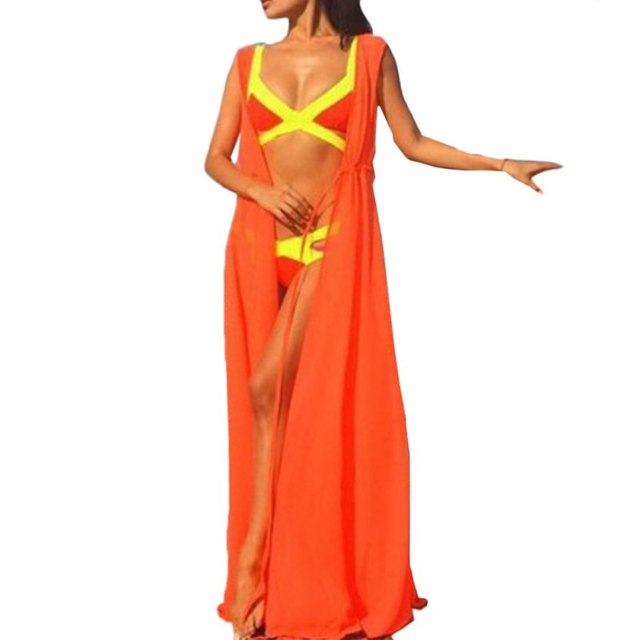 2017 New Chiffon Swimwear/Bikini Cover Up Beachwear Dress