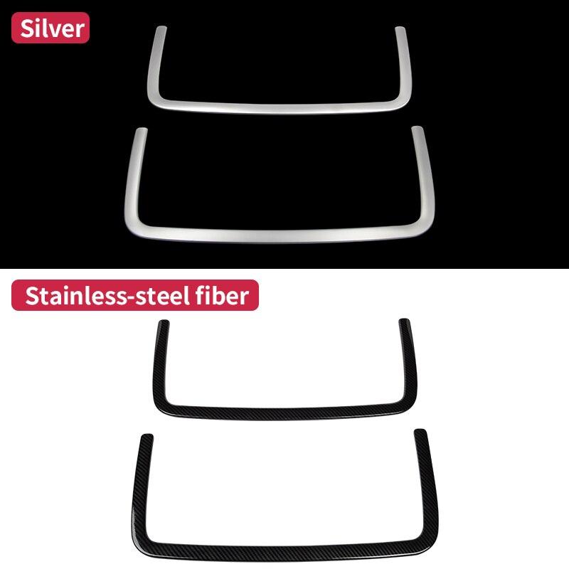 Pour Mercedes Benz GLE coupé c292 350d W166 ML350 2012 GL450 X166 GLS amg carbone intérieur siège arrière filet garniture accessoires