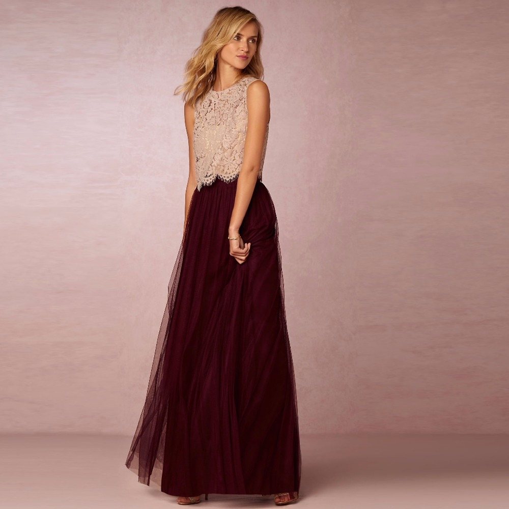 Aliexpress.com : Buy Burgundy High End Long Soft Tulle ...
