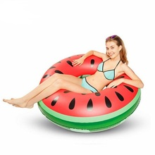 Inflatable Swimming Ring 120cm Watermelon Pool Float Circle for Kids Adult Beach Floating Party Toys