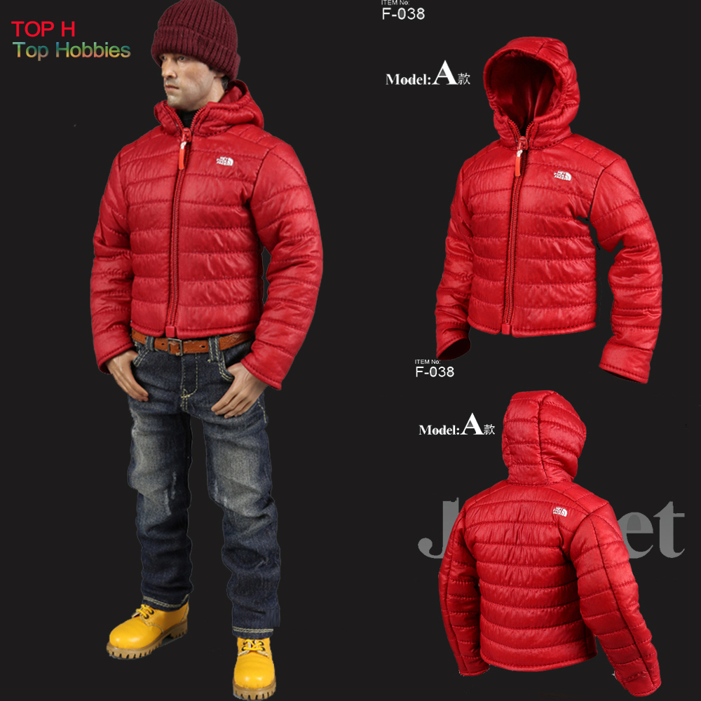 MC Toys 1/6 F-038 Model A Red Ultralight Down Jacket & Winter Hat Set Suit Fit 12 Inch Phicen Action Figure Wear Toy Dolls
