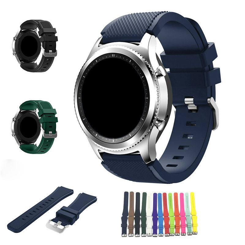 URVOI band for Samsung Gear S3 R760 R770 strap wrist colorful active silicone band with closure modern design replacement 22mm jansin 22mm watchband for garmin fenix 5 easy fit silicone replacement band sports silicone wristband for forerunner 935 gps