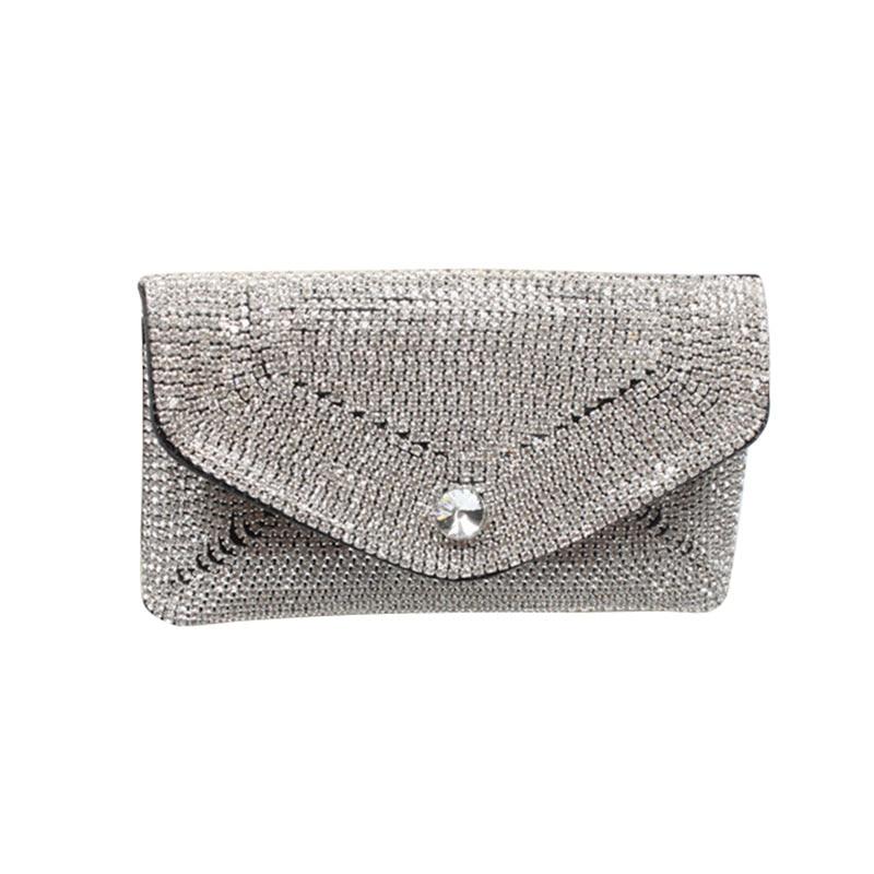 6PCS LOT Luxury Designer Belt Waist Pack Rhinestone Women Waist Bag Money Phone Pouch Fashion Lady Fanny Bag Purses in Waist Packs from Luggage Bags