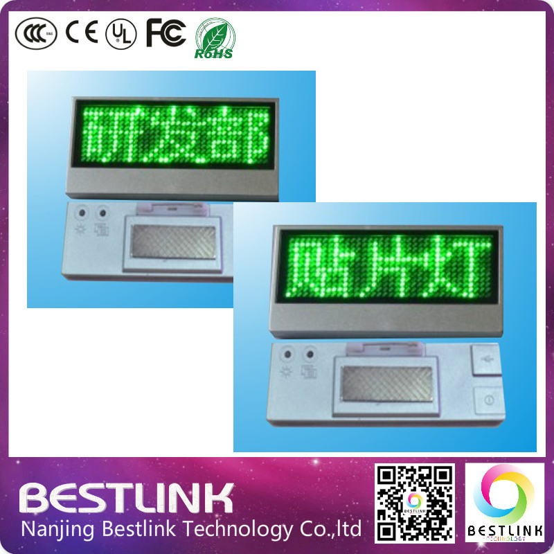 green led name badge card,low price led name tag, electronic LED mini badge screen board panel display, led diy kits