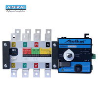 AISIKAI 4P 160A ATS dual power diesel generator parts electric control curcuit breaker single three phase ac Automatic Transfer