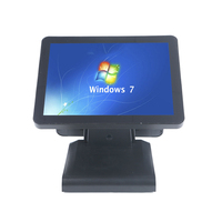 15 Inch Dual Scree Touch Pos Terminal Pos System All In One Windows 7 8 10