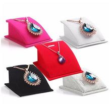 Fashion Velvet Holder  Mannequin Necklace Pendant Chain Jewelry Display Stand Show Rack Shelf Dropper Shipping Wholesale