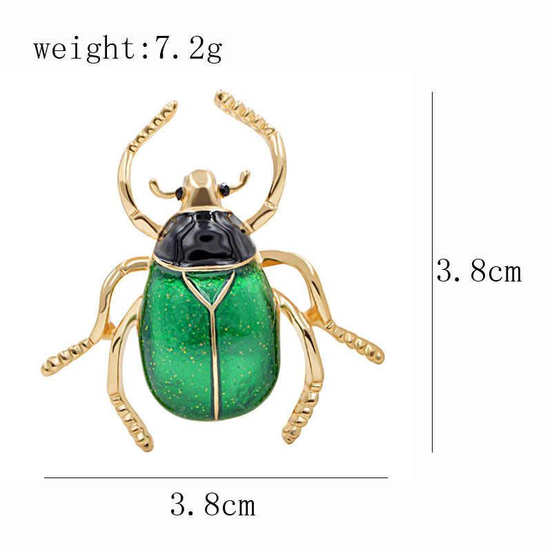 CINDY XIANG Bonito Beetle Inseto Esmalte Broche de Pino Da Forma Broches Unisex Casaco de Inverno Acessórios 2 Cores Escolher Broches Presente