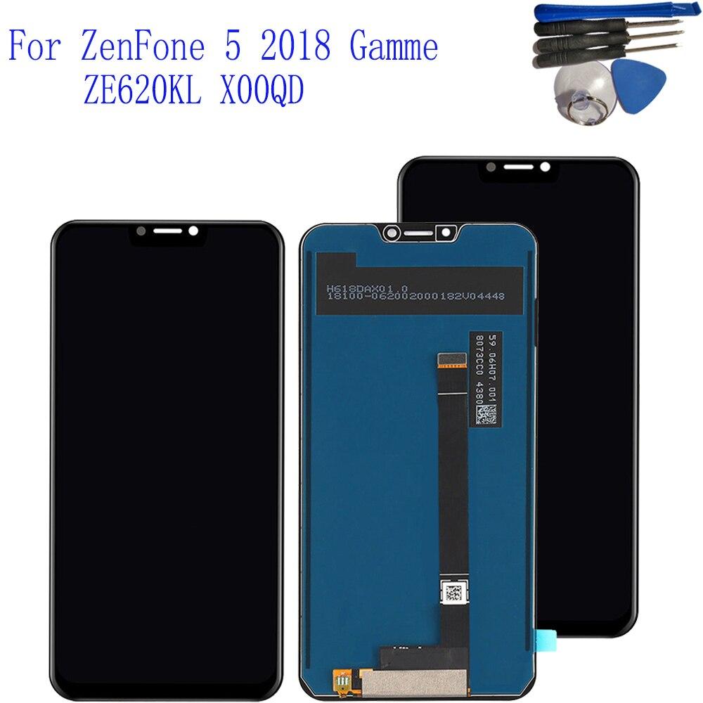 D'origine LCD 6.2 Pour ASUS ZenFone 5 ZE620KL X00QD Écran Tactile Digitizer Écran LCD Pour Asus Zenfone 5 2018 gamme LCD Affichage