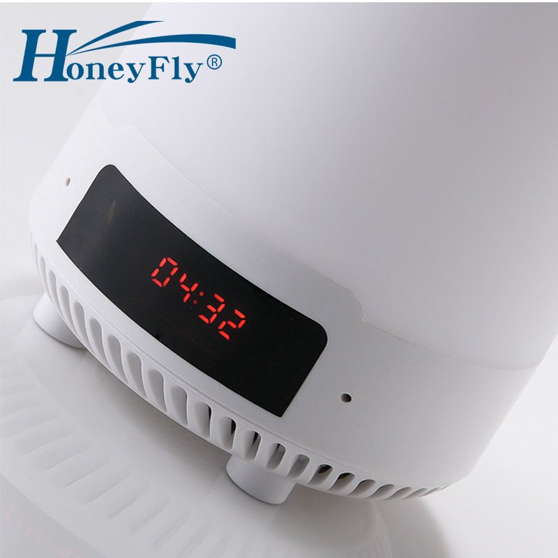 HoneyFly Night Light Wireless Bluetooth Music Player USB Rechargeable Seven Colors Dimmable SD card Music Playing in Night Lights from Lights Lighting
