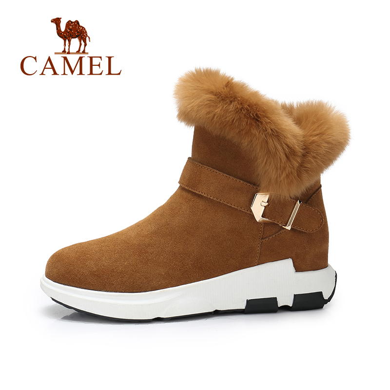 CAMEL Women Snow Boots 2018 Winter New Casual Warm Boots Short Shoes Women Boots Keep Warm Snow Short Shoe For Ladies lady short boots tassel fur warm winter wedges snow women boots shoes genuinei mitation casual knitting snow shoes z244