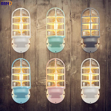 hot deal buy nordic vintage wall lamp bedroom beside iron american industrial wall lights fixtures lamparas de pared led stair light wandlamp