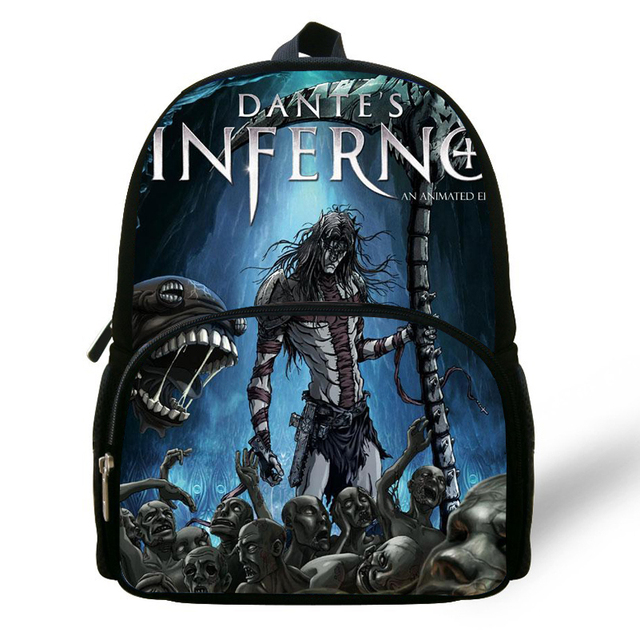 12-inch Cool Print Backpack For Baby Preschool Dante s Inferno Bag For Boys  Girls Kindergargen Bag For Kids Travel Bags 4fc65c7791a6a