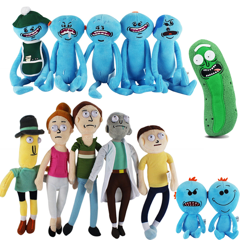 13 Style New Animation Rick and Morty Plush toys Rick Morty Rick Q Mr Meeseeks Plush