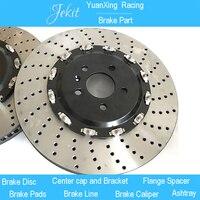Jekit больше тормозные диски 390 36 мм с черным центром крышки для bmw X1 e84 Размер колеса обода 22 для JK8520 большой комплект тормозных суппортов