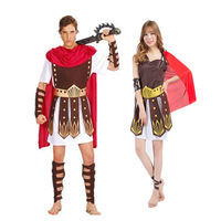 Halloween Costume Egyptian Greek Gladiator Adult Male and Female Italian Ancient Roman Spartan Samurai Dress Ornaments