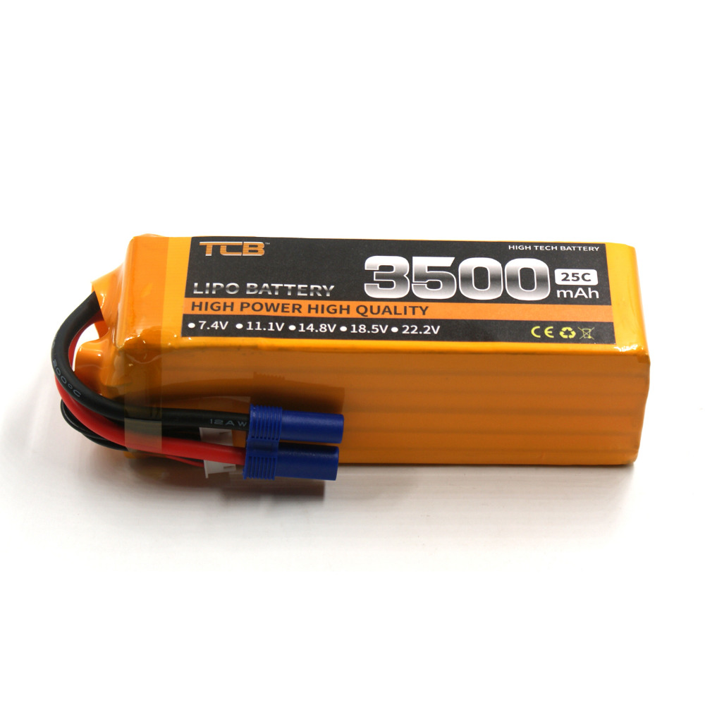 TCB RC lipo battery 22.2V 3500mAh 25C 6s for rc airplane quadrocopter RC helicopter factory outlet free shipping lipo battery 18 5 v 3500mah 25c 5s for rc airplane free shipping