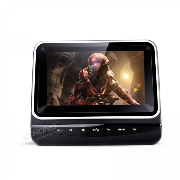 """7"""" Single Car Headrest DVD Player D Digital TFT Screen Touch Panel Removable <font><b>In-Car</b></font> & Home Use Auto Portable PC Car Monitor"""