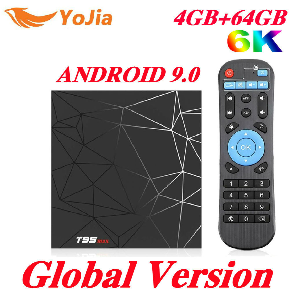 T95 MAX 4GB RAM 64GB ROM 6K Smart TV BOX Android 9,0 Allwinner H6 QuadCore Wifi Media jugador Youtube 2G16G T95MAX Set Top Box