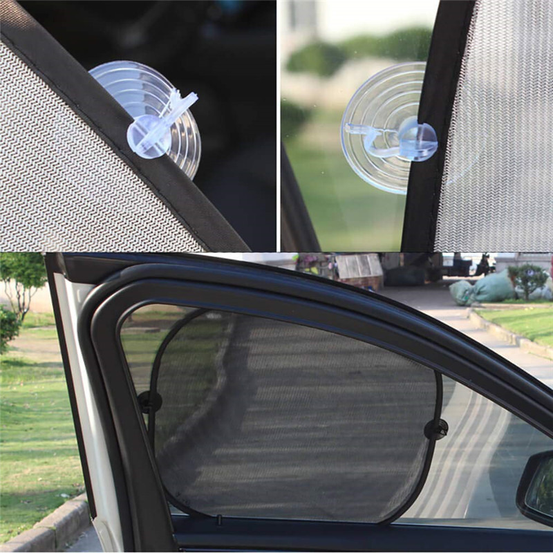 2 Pcs Car Front Side Window Sun Shade Mesh Gauze Summer UV Protection Sun Shade Block Sunlight and UV Rays in Side Window Sunshades from Automobiles Motorcycles