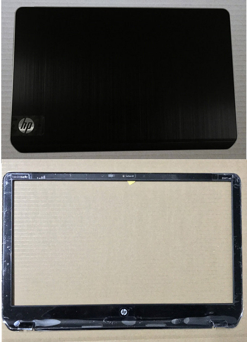 New HP For Pavilion For Envy M6 M6-1000 Series Cover Lcd Black with Silver LCD TOP COVER ...