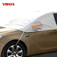 YIKA Universal Car Half Covers Sunshade Snow Cover Window Sunshade Sun Reflective Shade Windshield For SUV