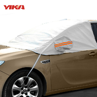 YIKA Universal Car Half Covers Sunshade Snow Cover Window Sunshade Sun Reflective Shade Windshield For SUV