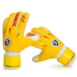 Professionelle torwart handschuhe Finger Schutz Verdicken Latex Fußball Fußball Goalie De Futebol Handschuhe 5 Finger Schützen Abnehmbare