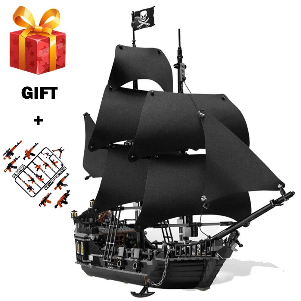 Pirates des Caraïbes Perle Noire Bateau Blocs de Construction de BRICOLAGE Jouets Éducatifs pour Enfants Cadeaux Compatible LegoING Caraïbes