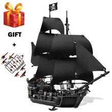 Пираты Карибского моря черный жемчуг корабль строительные блоки DIY Развивающие игрушки для детей Подарки Совместимость LegoING Caribbean